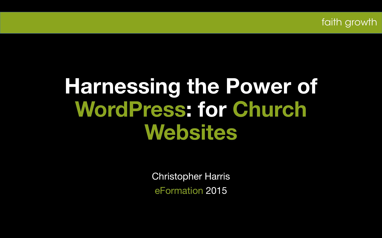 WordPress for Church Websites